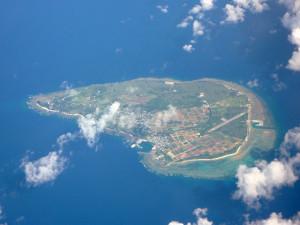 粟国島の航空写真(wikipediaより)