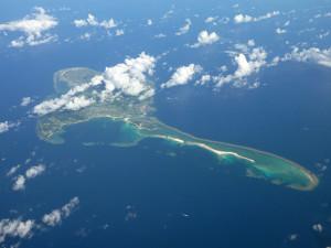 久米島の航空写真(wikipediaより)