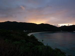 渡嘉敷島の朝日