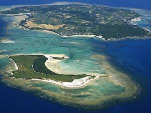 伊是名島の航空写真