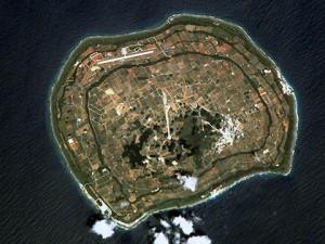 南大東島の航空写真(wikipediaより)