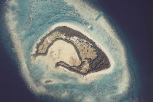 水納島の航空写真(wikipediaより)