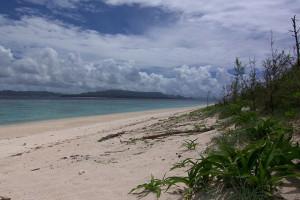 水納島のビーチの写真